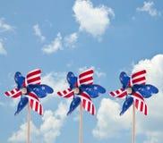 Pinwheel americano patriottico Fotografie Stock Libere da Diritti