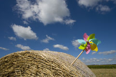 Pinwheel in bale of hay Stock Photography