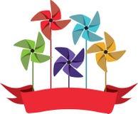 Pinwheel Banner Royalty Free Stock Images