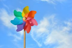 Pinwheel On a Blue Sky Royalty Free Stock Photography