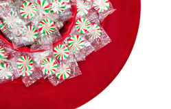 Pinwheel Christmas candies Royalty Free Stock Photography