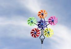 Pinwheel. Colorful pinwheel against blue sky Royalty Free Stock Photography