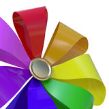 Pinwheel. Colorful pinwheel isolated on white background. Computer generated image with clipping path Stock Photo