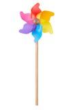 Pinwheel, colorful toy on white Stock Photos