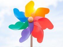 Pinwheel colorido imagens de stock