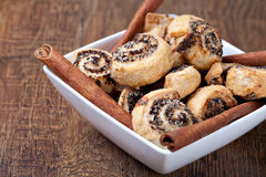 Pinwheel cookies with cinnamon Stock Image
