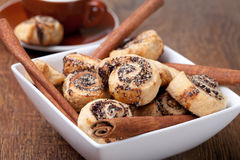 Pinwheel cookies with cinnamon Stock Photo
