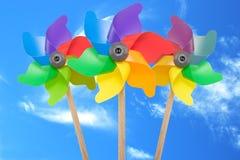 Pinwheel de três cores foto de stock