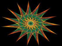 Pinwheel do arco-íris ilustração stock