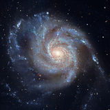 Pinwheel Galaxy Messier 101, M101 in the constellation Ursa Major. Elements of this image are furnished by NASA. Retouched image royalty free stock photo