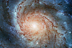 Pinwheel Galaxy Messier 101, M101 in the constellation Ursa Major. Elements of this image are furnished by NASA. Retouched image stock photography