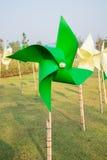 Pinwheel in the garden Stock Image