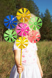 Pinwheel in hand Royalty Free Stock Photos