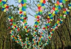 Pinwheel hanging in the air Royalty Free Stock Photos