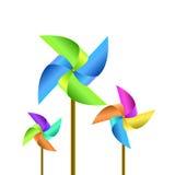 Pinwheel. Illustration of pinwheel on white background Stock Photo