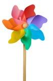 Pinwheel ou moinho de vento no branco Fotos de Stock