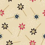 Pinwheel , paper windmill .  seamless pattern vector. Pinwheel , paper windmill . Childhood toy . hand draw sketch vector. seamless pattern Royalty Free Stock Images