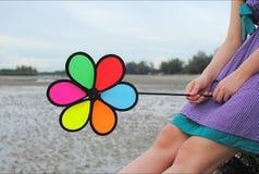 Pinwheel. Photography Of Portrait With Pinwheel Stock Images
