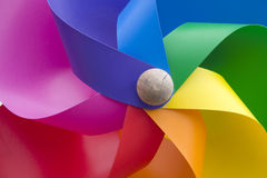 Pinwheel in rainbow colors  Royalty Free Stock Photos