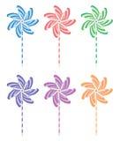 Pinwheel set, vector  Stock Photos