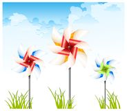 Pinwheel on sky Stock Photo