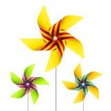 Pinwheel toy. Vector illustration of a pinwheel toy Royalty Free Stock Image