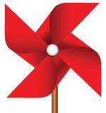 Pinwheel toy. Childrens toy pinwheel as a propeller. Vector illustration Royalty Free Stock Images