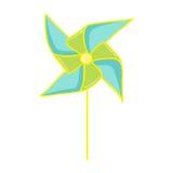 Pinwheel toy illustration Stock Photography