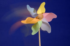 Pinwheel Toy With Motion Blur. A pnwheel toy with motion blur Stock Photos