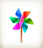 Pinwheel toy multicolor. Computer illustration on white background Stock Images