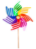 Pinwheel toy windmill multicolor garden wind spinner on white Image included clipping path. Pinwheel toy windmill multicolor garden wind spinner on white. Image stock photography