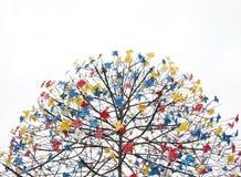 Pinwheel tree. Idea on  background Royalty Free Stock Images