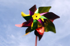 Pinwheel windmill toy Royalty Free Stock Photography