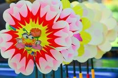 Pinwheels в ряд Стоковая Фотография