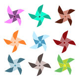 Pinwheels colorés Photos libres de droits