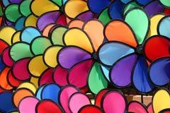 Pinwheels colorés Photo libre de droits