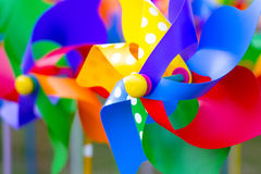 Pinwheels. Colorful pinwheels in a funfair shop Stock Photo
