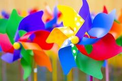 Pinwheels. Colorful pinwheels in a funfair shop Stock Images
