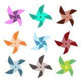 Pinwheels coloridos Fotos de archivo libres de regalías