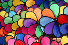 Pinwheels coloridos Foto de archivo libre de regalías
