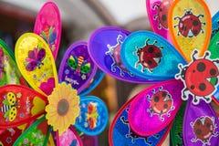 Pinwheels coloridos imagem de stock