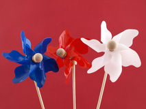 Pinwheels patrióticos Foto de Stock