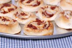 pinwheels pepperoni бекона Стоковые Фото