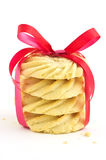 Pinwheels sbattuti dello shortbread Fotografia Stock Libera da Diritti