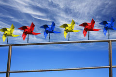 Pinwheels and Sky Stock Photography