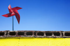 Pinwheels and Sky Stock Image