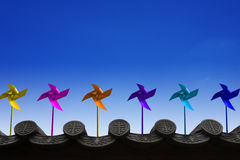 Pinwheels and Sky Stock Photos