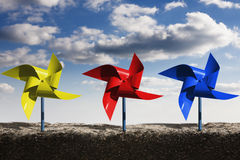 Pinwheels and Sky Stock Images