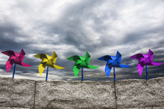 Pinwheels and Sky Royalty Free Stock Photography
