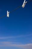 Pinza con el cielo azul imágenes de archivo libres de regalías